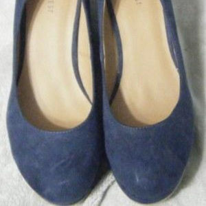 Blue Wedge Shoes 11M